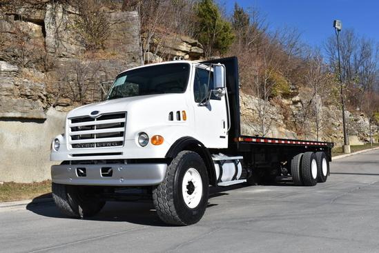 2007 Sterling LT7500 6x4 Flatbed W/Forklift Mount Flatbed W/Forklift Package