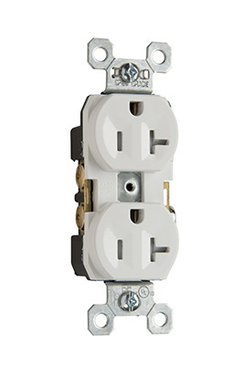 Tamper-Resistant Commercial Grade Receptacles, White, TR20W