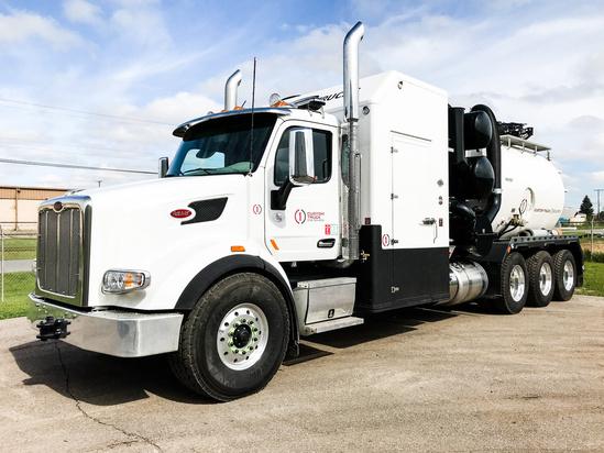 2020 Peterbilt 567 8x6 Tornado Global F4 ECOLITE Hydrovac Truck