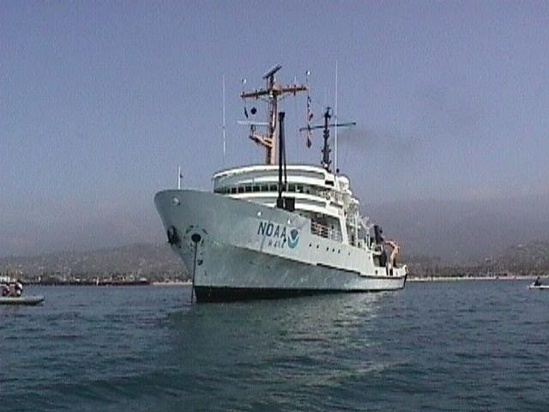Photo of research vessel David Starr Jordan and link to its web page
