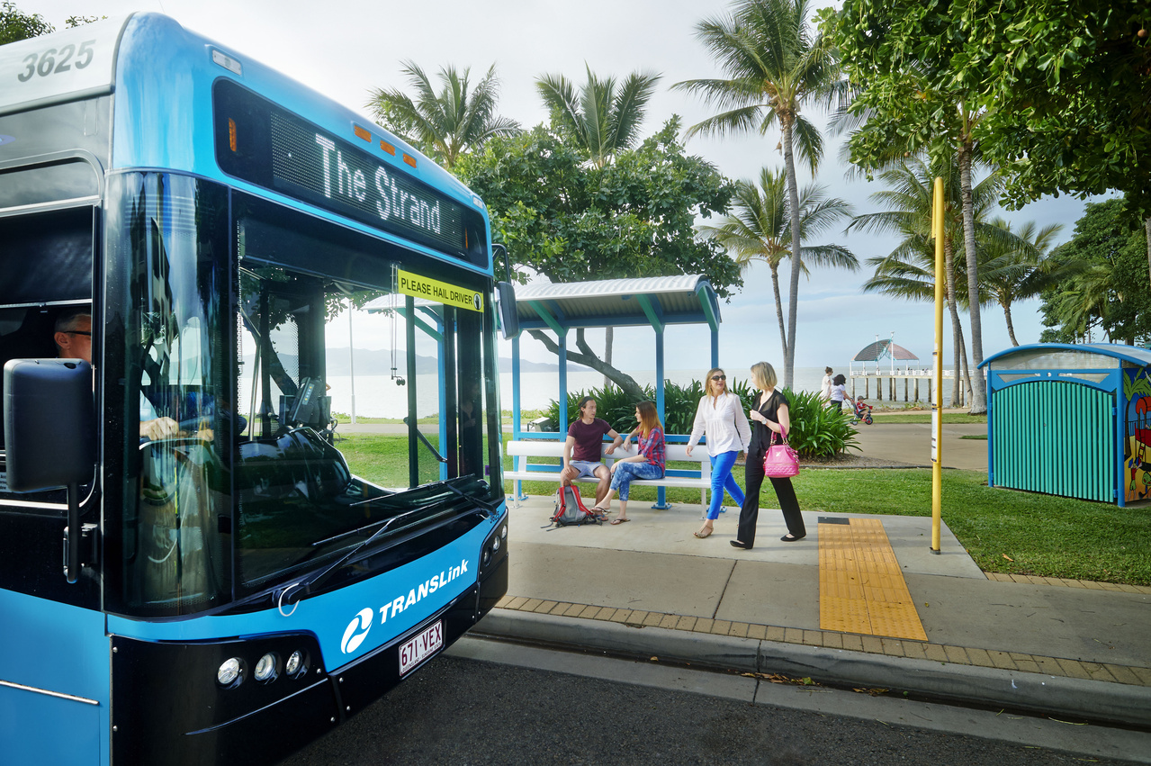 Bus at Townsville stop